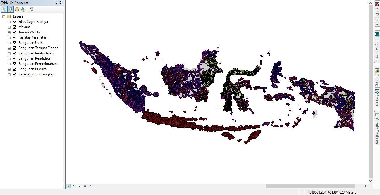 Shapefile Tempat Menarik yang ada di Indonesia