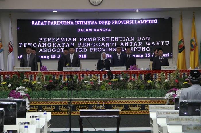 Rapat Paripurna Pelantikan Riza Mihardi Anggota DPRD Provinsi Lampung