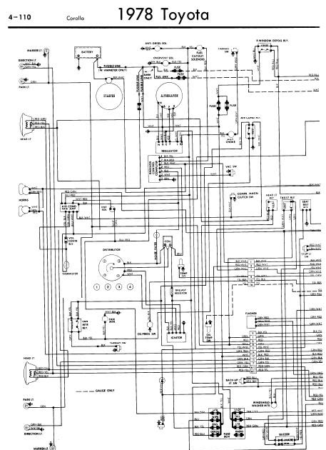 repairmanuals: Toyota Corolla 1978 Wiring Diagrams