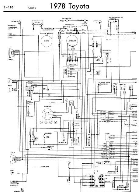 repairmanuals: Toyota Corolla 1978 Wiring Diagrams