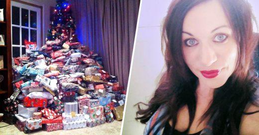 Gastó 1,800 dólares en regalos para su esposo e hijos