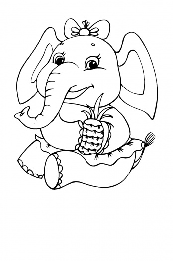cute baby elephants coloring pages   13 Cute Baby Elephant Printable Coloring Sheet