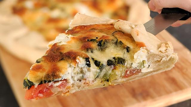 tarte, courgette, tomate, mozzarella, sans oeufs, recette gourmande, pâte fait maison