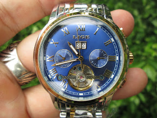 Jam Tangan Automatic Mechanical LIGE 9813 Stainless Steel Waterresistant Relogio Masculino