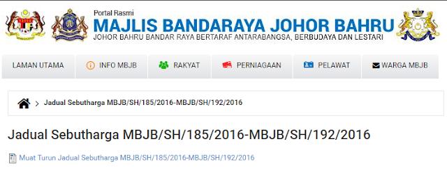 Rasmi - Jawatan Kosong (MBJB) Majlis Bandaraya Johor Bahru Terkini 2019