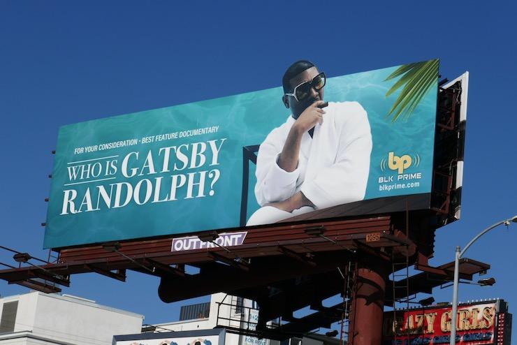 Who is Gatsby Randolph documentary FYC billboard