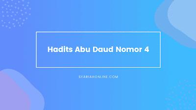 Hadits Abu Daud Nomor 4