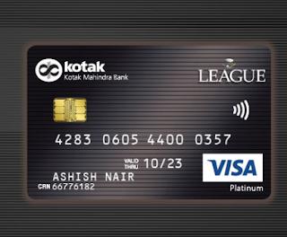 Credit card kotak League Platinum Card