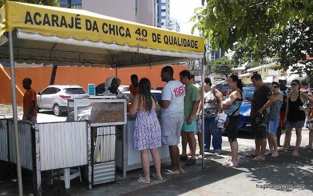 Acarajé de Chica, meu favorito em Salvador