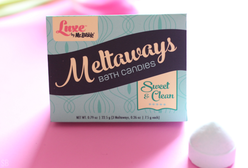 Luxe Meltaways bath candies