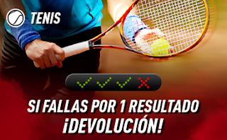 sportium Tenis: Combinadas con seguro 21-27 octubre 2019
