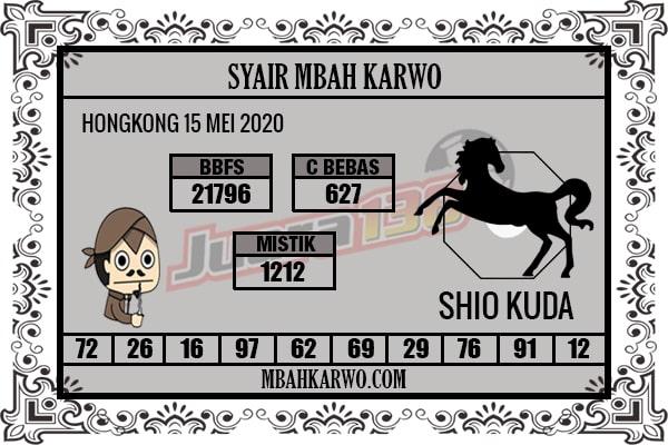 Prediksi HK Malam Ini 15 Mei 2020 - Syair Mbah Karwo