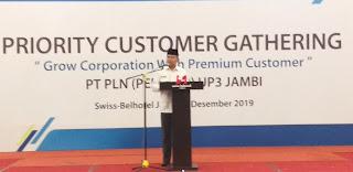 Staf Ahli Gubernur Jambi Secara Resmi Menghadiri Priority Customer Gathering PT PLN PERSERO UP3 JAMBI