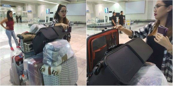 stolen from check-in baggage in PAL flight Jho Cabagyo