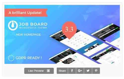 Download Theme Wordpress recruitment Theme InJob New