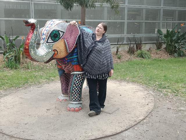 Mali sculpture in Birrarung Marr by Deborah Halpern