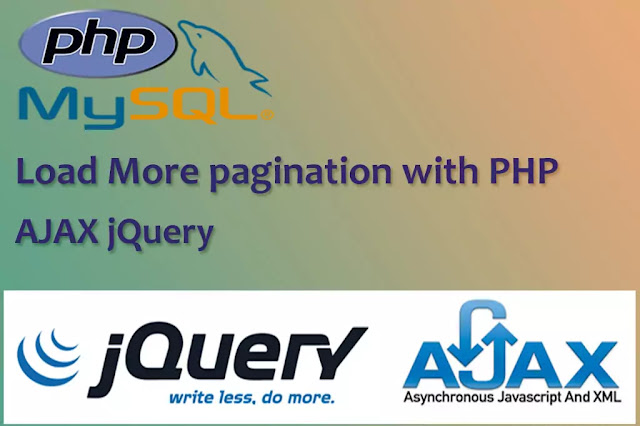 Load dynamic data using Load More pagination with PHP and jQuery AJAX