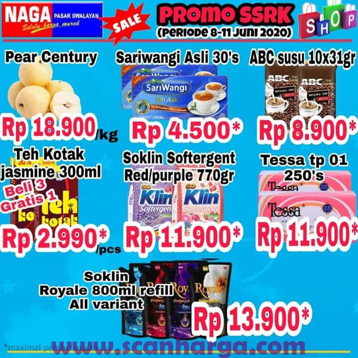 Katalog Promo Naga Swalayan Weekday 8 - 11 Juni 2020