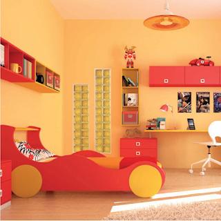 decoration-chambre-enfant-jaune-corail