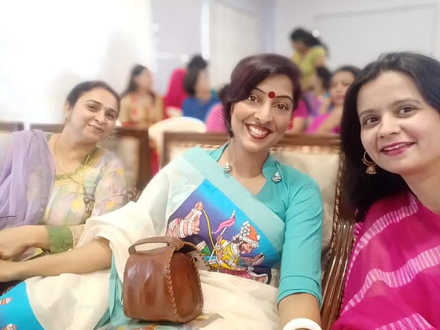 Reshma Kadvath and her fauji wife friends at a social commitment