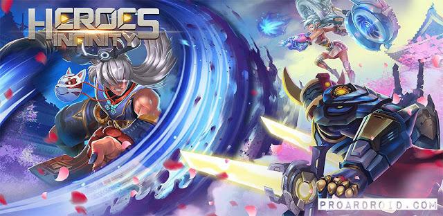 لعبة الاكشن Heroes Infinity v1.29.3L مهكرة كاملة للاندرويد (اخر اصدار) logo