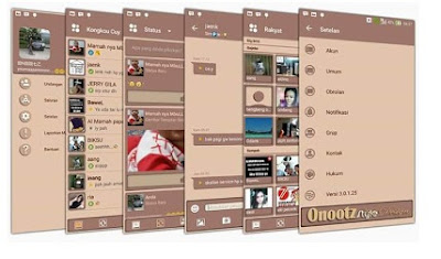 BBM Mod Brown Theme Based Official V3.0.1.25 Apk Terbaru