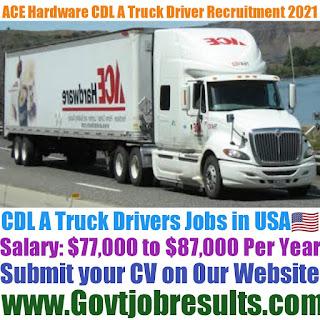 ACE Hardware CDL A Truck Driver Recruitment 2021-22