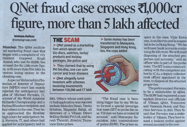 QNet Fraud case News clipping