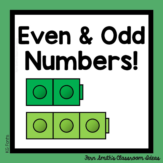 Ways to Teach & Spiral Odd and Even Numbers with Lessons and Resources from Fern Smith's Classroom Ideas.