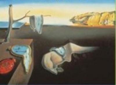 A Persistência da Memória, pintura do surrealista Salvador Dalí. #PraCegoVer