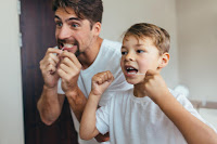 flossing and brushing correctly