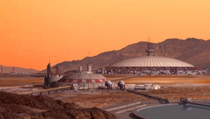 Mars in Babylon 5 - Mars Dome One in Syria Planum