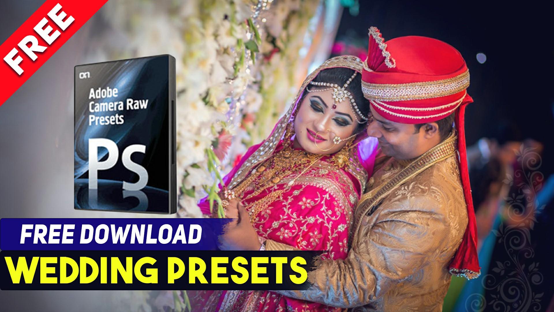 wedding camera raw presets