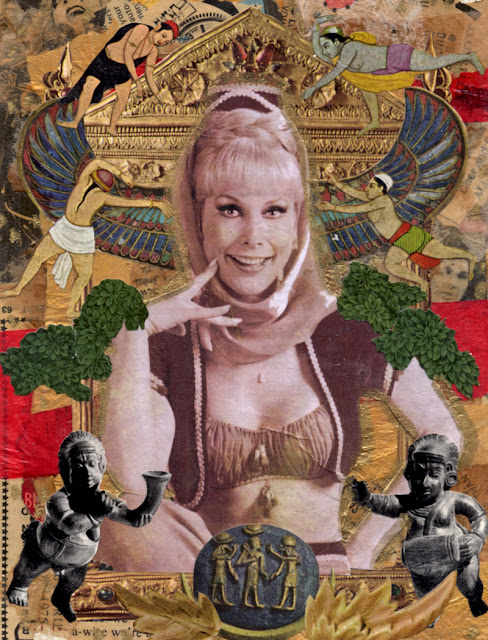 Celebrity Icon collage -- I Dream of Jeannie