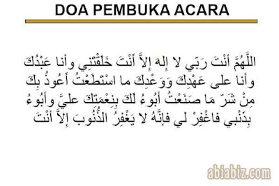 doa pembuka acara