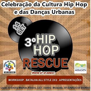 3º Hip Hop Rescue de Miracatu