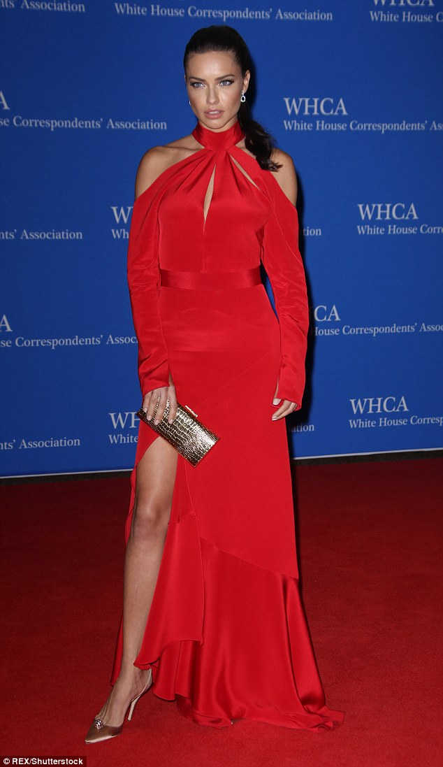 Adriana Lima is red hot at the White House Correspondents' Dinner