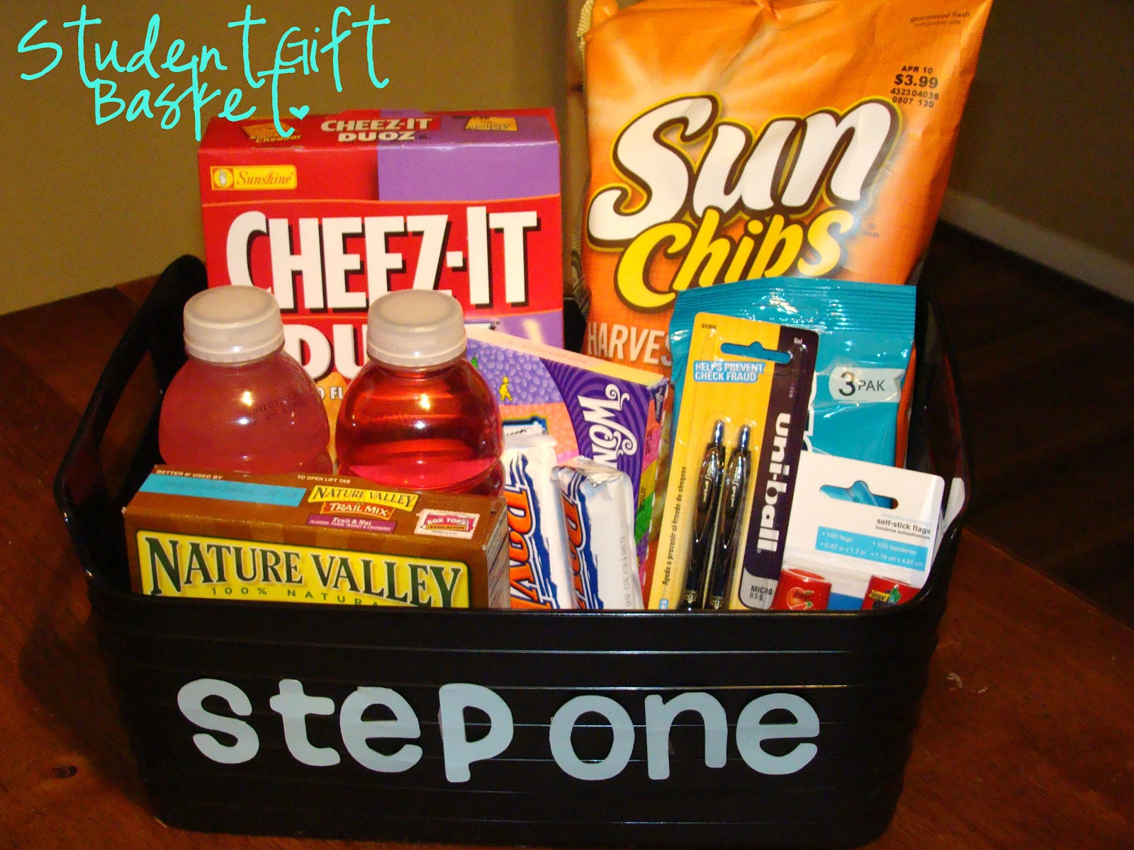 Anatomy Of A Craft Student Gift Basket