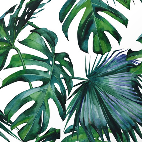 """""""tropical palm leaves"""" by Simple Luxe on Society 6"""