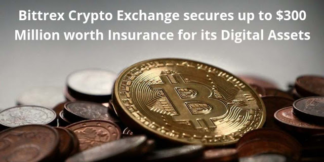 Bittrex Crypto Exchange secures up to $300 Million worth Insurance for its Digital Assets