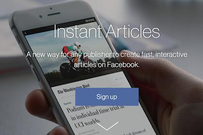 PUBLISHER | MEMBAHAS APA ITU INSTANT ARTICLE FACEBOOK