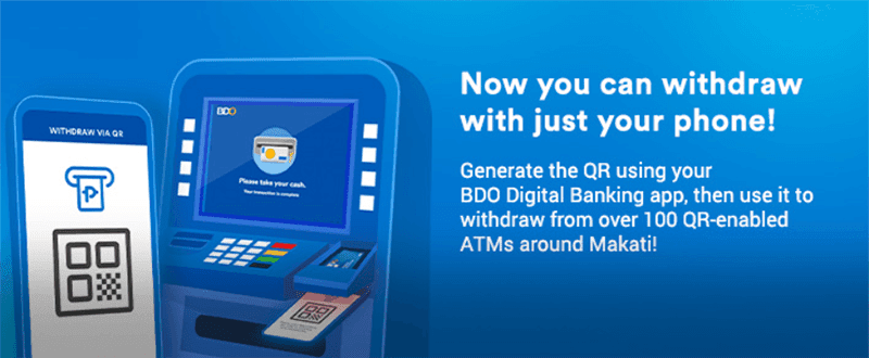 BDO now lets you withdraw with just your phone via QR Code!
