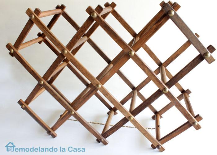 wooden accordion wine rack