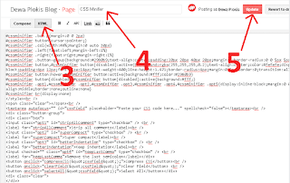 Cara Membuat Halaman CSS Manifier Tool Blogspot