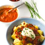 Potatoes with Vegan Chorizo