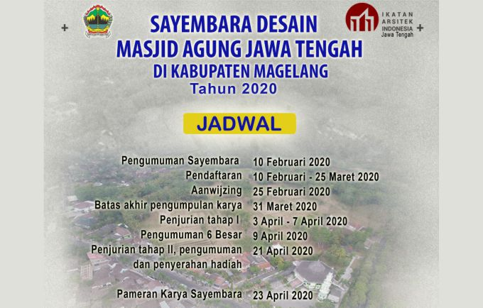 Sayembara Arsitektur Pembangunan Masjid Agung Jawa Tengah MAJT