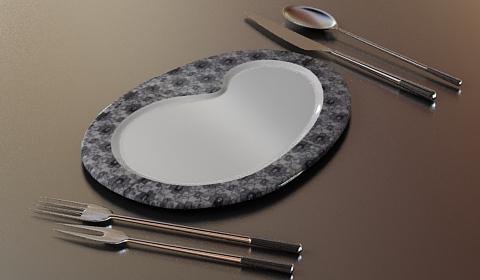 dinner utensil 3d model free