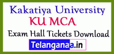 Kakatiya University  MCA Exam Hall Tickets Download