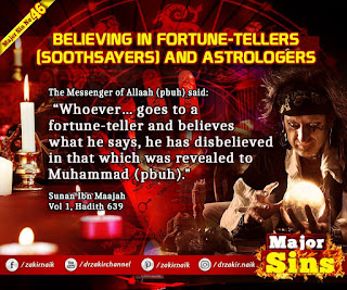 MAJOR SIN. 64. BELIEVING IN FORTUNE-TELLERS (SOOTHSAYERS) AND ASTROLOGERS