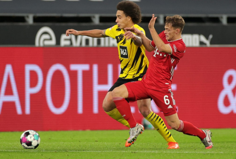 Borussia Dortmund travel to the home of the champions Bayern Munich to lock horns in this titanic contest